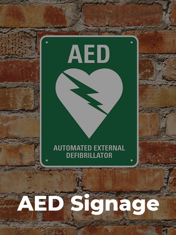heartsaver products aed signage
